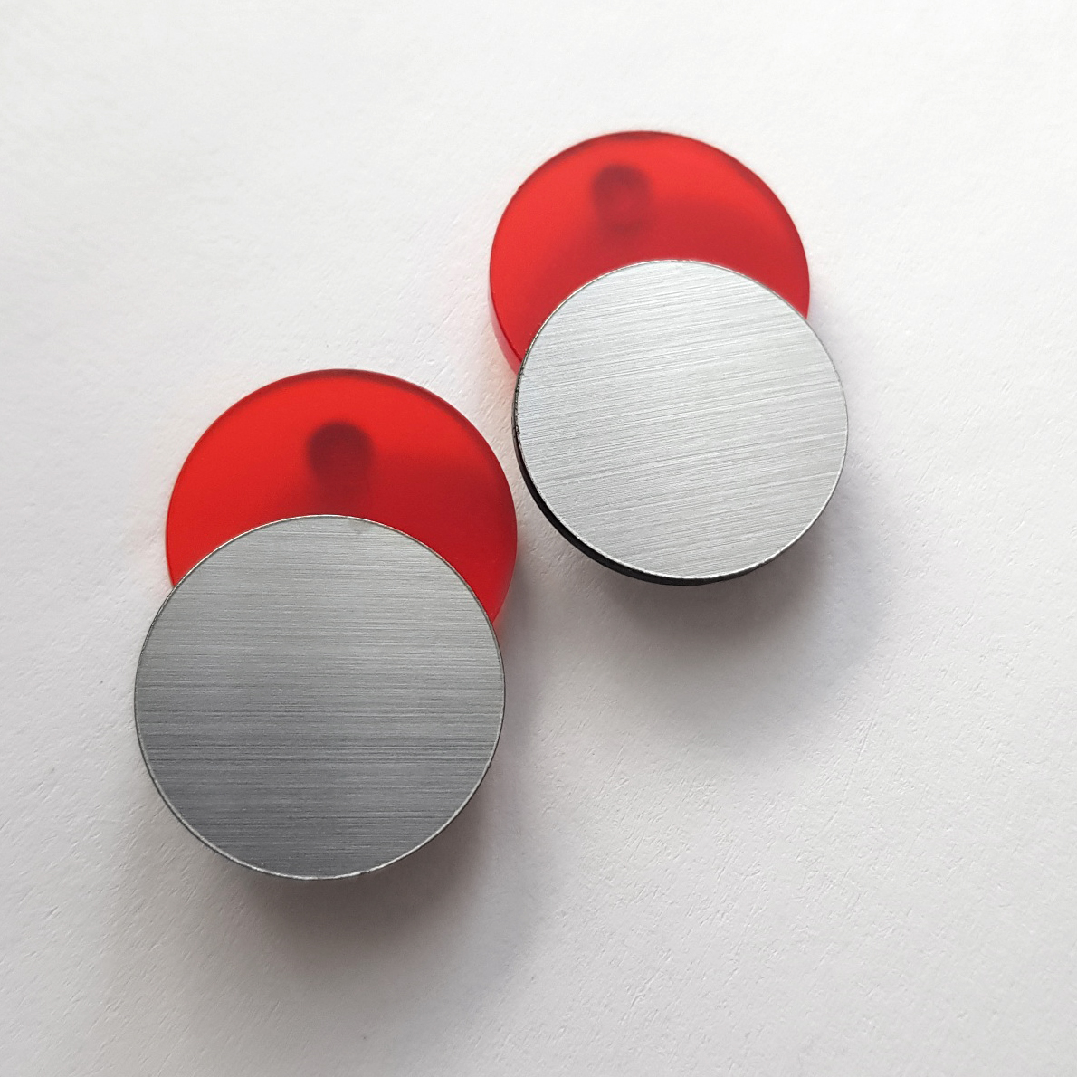 COMBI CIRCLES red/silver