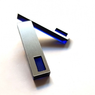 RECTANGLE blue/silver